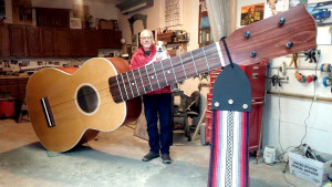 giant ukulele with jack